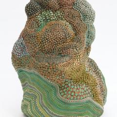 Mutter mit Kind, 2011, Modelliermasse / modelling plastic clay, 26 x 20 x 18 cm