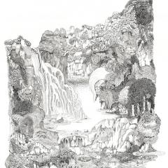 Tivoli, 2012, Tusche auf Papier / ink on paper, 80 x 60 cm