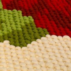 Title: detail 'Kiki Carpet special' Designer: Kiki van Eijk Year: 2000 / 2005 Material: wool, latex, metal Technique: felted, knotted Dimensions: 320 x 210 x 5 cm Collection TextielMuseum Inv. No.: 14995 Photo: Josefina Eikenaar/TextielMuseum