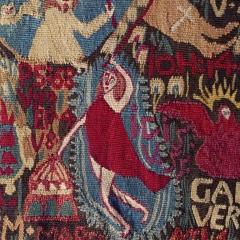 Dithmarscher Wandteppich, Feld3_1_Himmelfahrt+Gottvater, © Staatliche Museen zu Berlin, Museum Europäischer Kulturen / Ute Franz-Scarciglia.