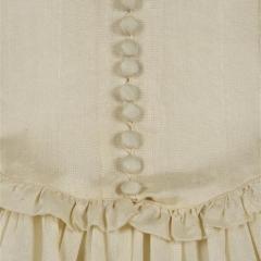Hochzeitskleid Kunstseide Knopfreihe hinten hell 1940er, Foto: Deutsches Textilmuseum Krefeld