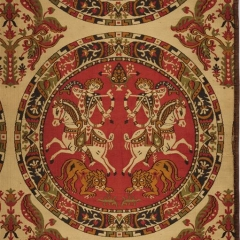 Nachwebung Maastricht Detail 1 Medaillon hell, Foto: Deutsches Textilmuseum Krefeld