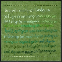 Sampler von Elsbeth Wiens