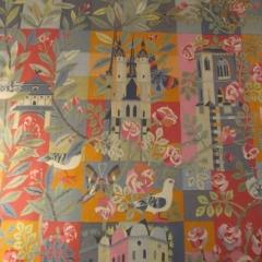 """Rosemarie und Werner Rataiczyk, Detail der Tapisserie """"Stadt Halle"""", Marktkirche"""