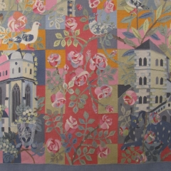 """Rosemarie und Werner Rataiczyk, Detail der Tapisserie """"Stadt Halle"""""""