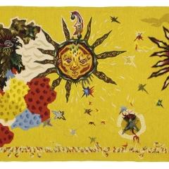 Französischer Originaltitel: Le coq et les astres Deutscher Titel: Der Hahn und die Sterne Jahr: 1964 Atelier: Picaud Breit x Höhe in m: 3,18 x 1,53