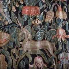Einhorn und Kaiserkrone auf einem Rückenpolster, aus dem Dithmarscher Landesmuseum Meldorf