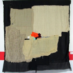 Annita Romano, Recommencer, 2009, 155 x 135 cm, handgenäht