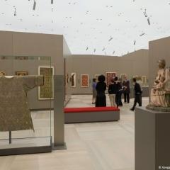 Kunstwerke des 15. und 16. Jahrhunderts in der Dauerausstellung (mit Besuchern) , @ Abegg-Stiftung, CH-Riggisberg (Photo: Christof von Viràg)