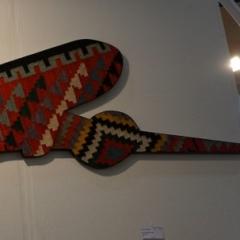 Alex Flemming - AF 32-Serie Flying Carpets, Teppich auf Holz, 87x216cm, 2006s 2