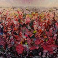 Zhuang Honh Yi - Landscape 2017, Reispapier, Tusche auf Leinwand, 200 x 250 cm