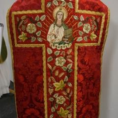Messgewand Heilige Caecilia mit Orgel als Attribut