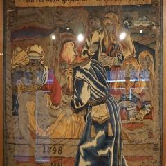 Palais Episcopal Straßburg Die Grablegung Christi, 98x 76 cm, Wolle, Seide, Metallfäden 1598