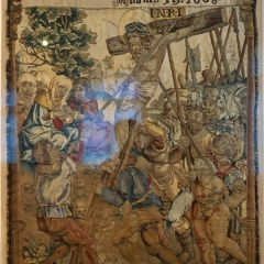 Die Aufrichtung des Kreuzes, Wolle, Seide, Metalfäden, Gegenbach