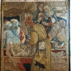 Grablegung Christi, Wolle, Seide, Metalfäden,Gegenbach