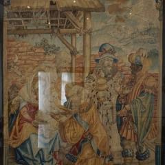 Die Anbetung der Heiligen drei Könige, 1620, Wolle, Seide, Metallfäden, Privatbesitz