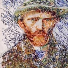 Vincent van Gogh, von hinten