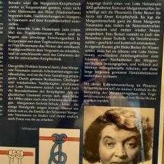 Tafel im Spitzenmuseum Plauen, Foto: Heike Becker