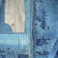 Mein BORO-Mantel, angeblich 200 Jahre alt, zerschlissen und vielfach geflickt, Detail