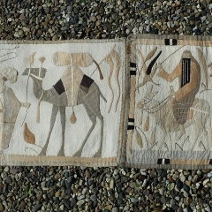 Ein Ägyptischer Fries, Größe 42 x 200 cm. Eine dänische Patchworkerin hat ihn mir geschenkt.