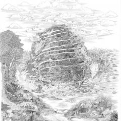 Babel, 2013, Tusche auf Papier / ink on paper, 80 x 60 cm