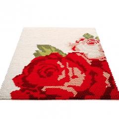Title: 'Kiki Carpet special' Designer: Kiki van Eijk Year: 2000/ 2005 Material: wool, latex, metal Technique: felted, knotted Production: Danish Carpets Dimension: 320 x 210 x 5 cm Collection TextielMuseum Inv. No.: 14995 Photo: Kiki van Eijk
