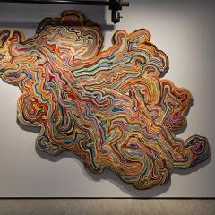 Exhibition: Switch   Dutch Design on the Move Title: 'Accidental Carpet' Designer/artist: Remy & Veenhuizen/ Tanja Smeets Year: 2005 - 2008 Dimensions: 348 cm x 220 cm w Collection TextielMuseum Inv. No. 15198 Photo: Josefina Eikenaar/TextielMuseum