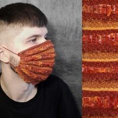 Indrė Spitrytė, Tomatex face mask III, weaving with dry tomato peels and threads (Foto: I. Spitrytė)