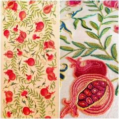 Suzani, Pomegranate, Details