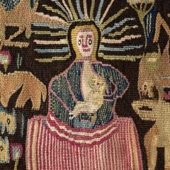 Dithmarscher Wandteppich, Feld1_3_Maria+Kind, © Staatliche Museen zu Berlin, Museum Europäischer Kulturen / Ute Franz-Scarciglia.