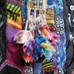 "Natacha Wolters, Textilminiatur ""Afrika"", Detail (Foto: N.W.)"