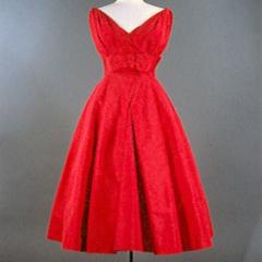 Ein Kleid von Dior, Foto: Deutsches Textilmuseum Krefeld