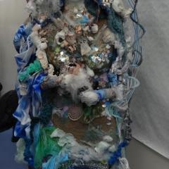 """Mutter Meer"" von Eva Lippert – Textil Kunst Illustration"