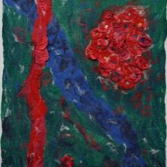 Veronika Urban - Rote Blumen am Wasser