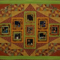 Quilt mit Tambani-Quadraten
