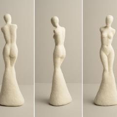 Yvonne Zoberbier, Venus, 2020/21, Plastik, Nadelfilztechnik, 35x8x11 cm (Foto: Robert Quentin)