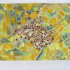 Carola Fiedler: Pozuela, ca. 47 x 60 cm, bestickt